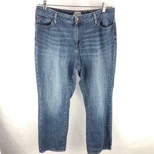 L.L. Bean Classic Fit Blue Denim Jeans 16P